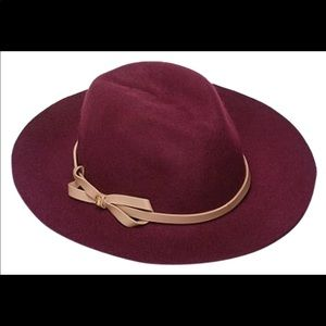 Victoria secret wide brim wool hat